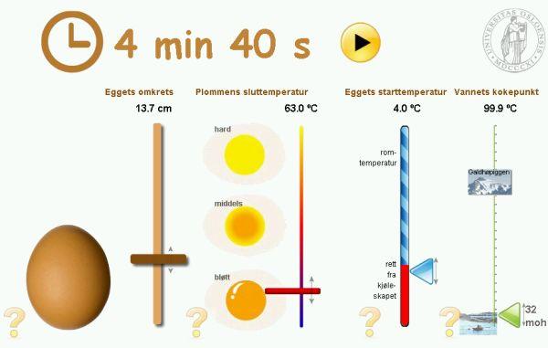 Egg Cooking Time Calculator Uio