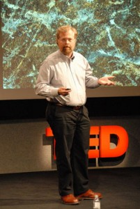 Nathan Myhrvold giving a TED talk about some of his many interest (click image to see video). Photo by Neil Hunt from flickr.com (CC BY-NC 2.0).