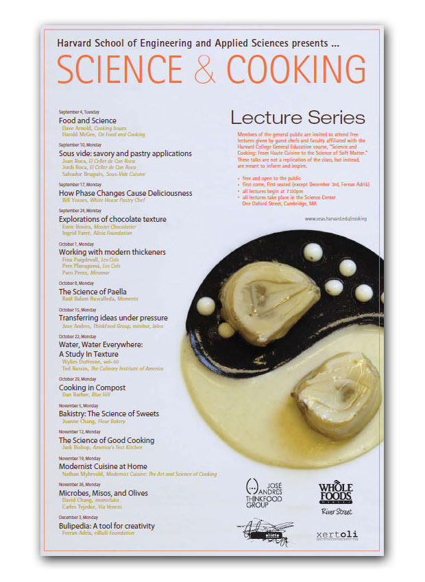 Harvard science & cooking lectures 2012